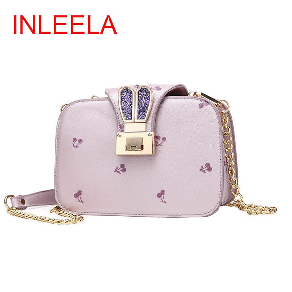 Inleela Lock Floral Pu Handbags Women