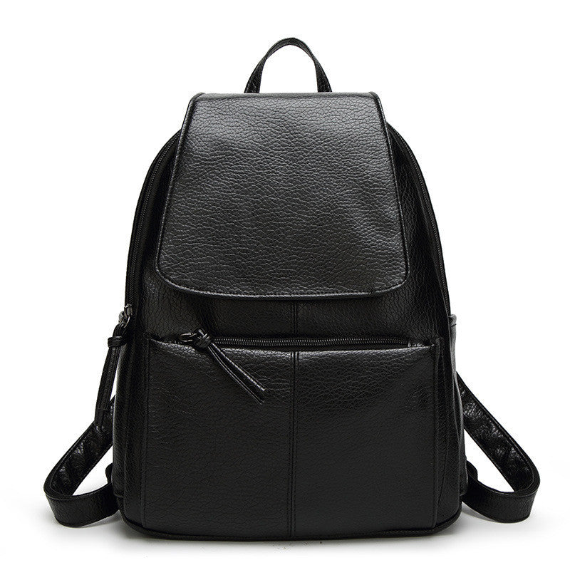 Inleela Bow Solid Pu Backpacks Women