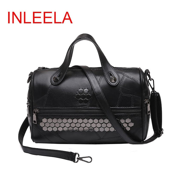 Inleela Sequined Patchwork Pu Handbags Women 030