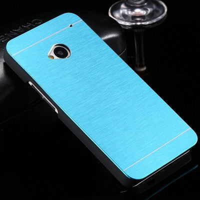 KISSCASE For HTC M7 M8 M9 Case Fashion Slim Aluminum Metal Plastic Hybrid Case For HTC One M7 M8 M9 Durable Slim Phone Cover