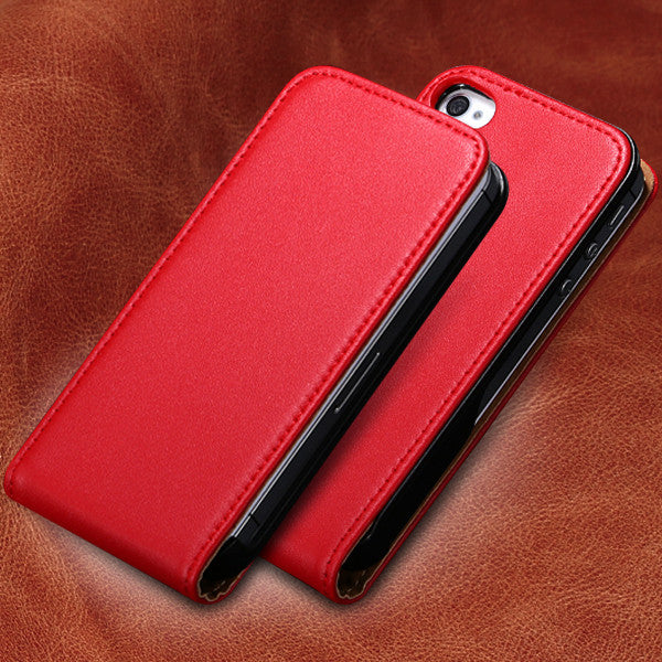 the best attitude 795f9 d1967 KISSCASE Genuine Leather Vertical Flip Mobile Phone Case For Apple iPhone  4S 4 4G Ultra Slim Korean Style Cover For iPhone 4 4S