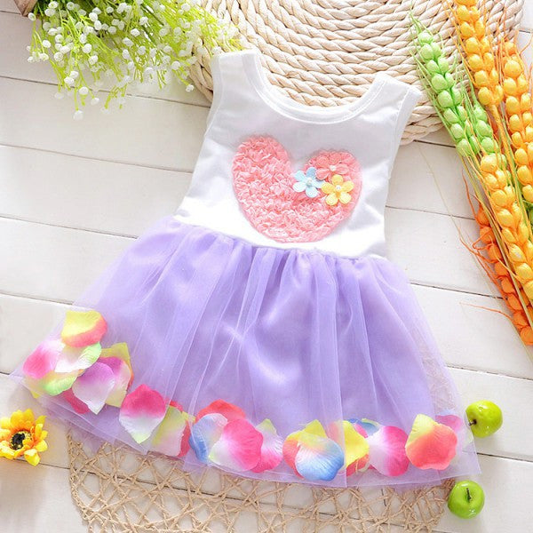 Kid Girl Dress Princess Dress Party Flower Tutu Summer Dress 0-4Y