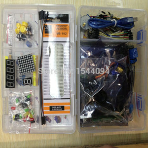 Kit for arduino uno with mega 2560 lcd1602 hc-sr04 dupont line in plastic box