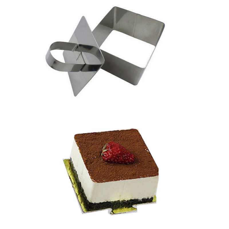 Kitchen DIY Bakeware Tools Stainless Steel Cupcake Mold Salad Dessert Die Mousse Ring Cake Cheese Tool L1