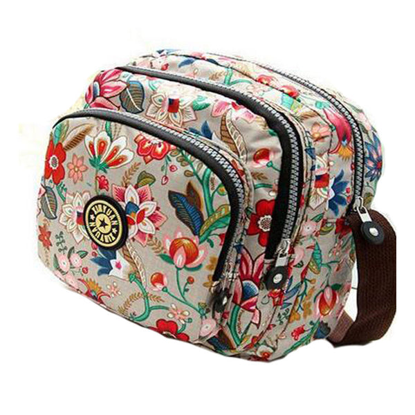 Cooamy Floral Nylon Handbags Women Kl152