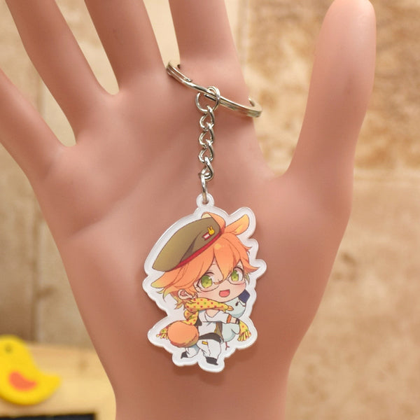 LOVE 1000% Keychain acrylic Action Figure 7 Styles Pendant Key Accessories GZDX001 LTX1