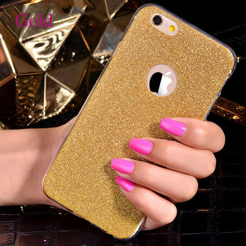 LOVECOM For Iphone 5 5S SE 6 6S Plus 7 7 Plus Phone Case Bling Glitter Powder Ultra Thin Soft TPU Phone Back Cover Capa YC1289