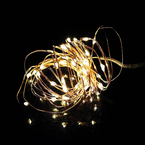 Led String Christmas Lights Copper Sliver Wire 3M 30Led Battery operater waterproof Outdoor Indoor Garland light fun life LM