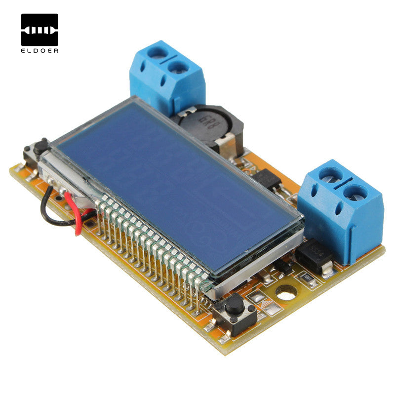 Liquid Crystal Displays DC-DC Step-Down Power Supply Adjustable Push-Button Module with LCD Display 5~23V 3A 50mm x 30mm x 12mm