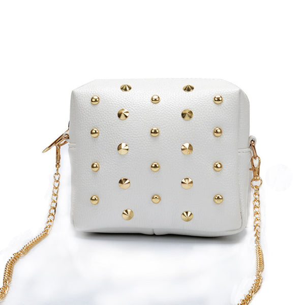 Antbook Chains Solid Pu Handbags Women 1310