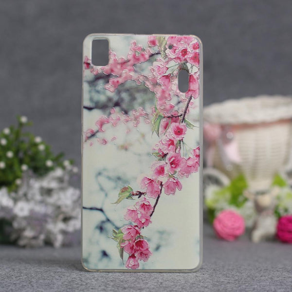 Luxury Flower Painted Case For Lenovo K3 Note Case Lenovo A7000 Phone Case Back Cover For Lenovo K3 Note Silicon 3D Relief Case