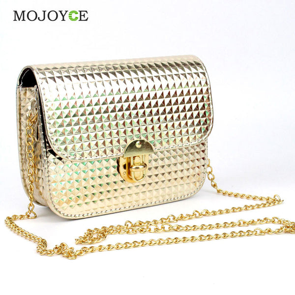 Mojoyce Lock Solid Pu Handbags Women Handbag