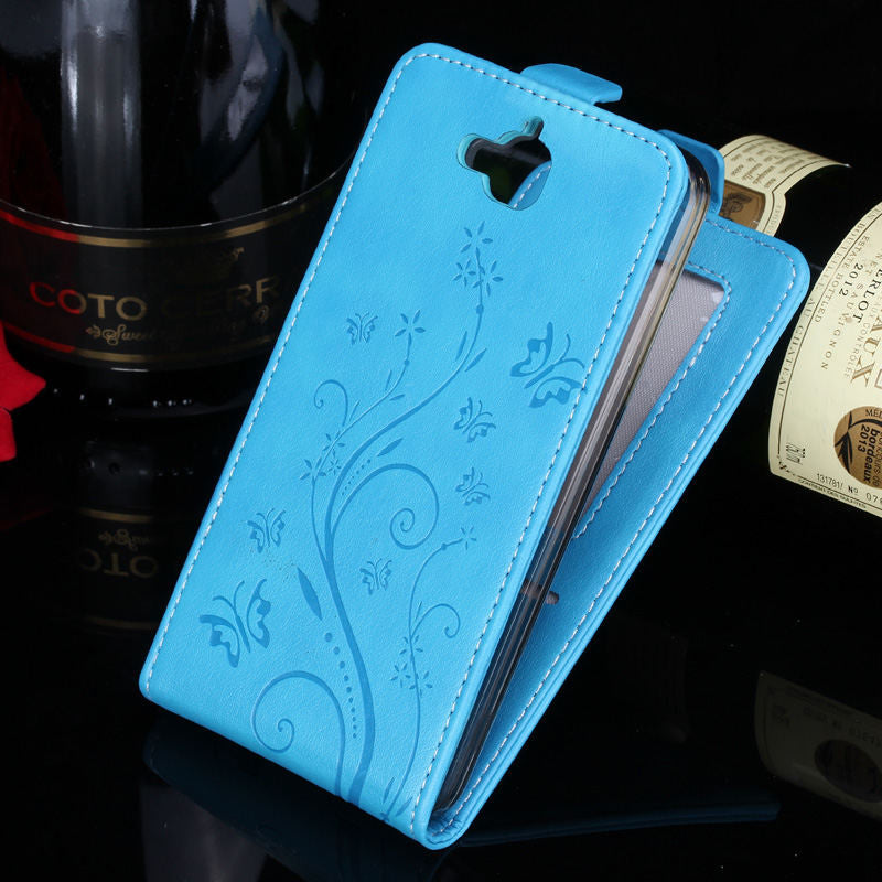Luxury Leather Case for Huawei Honor 4C Pro Case for Honor 4C Pro Flip Cover Butterfly Painted Case Wallet Card Slot Phone Bag