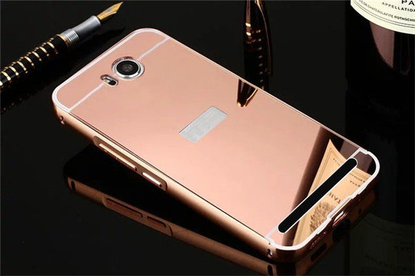 Luxury Metal Aluminum Frame + Mirror Acrylic Back Cover Case For Huawei Y5 ii Cases Huawei Honor 5A LYO L21 Coque Capa Etui p30