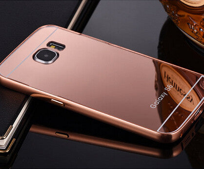 the best attitude 96314 a1a92 Luxury Mirror Case For Samsung Galaxy S3 S4 S5 S6 Metal Aluminum Frame For  Samsung S6 Edge S7 Edge Note 2 Acrylic Back Cover