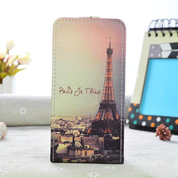 Luxury PU Leather Case For Alcatel One Touch 5010D Pixi 4 5.0 Case Flip Cover Cartoon Painting Phone Protective Case 5010