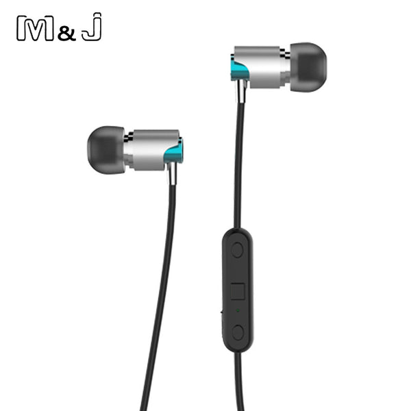 M&J Sport Bluetooth Earphones Sweatproof Wireless Earbuds With Mic Stereo Sound Magnet Attraction Earphone For Sport Running