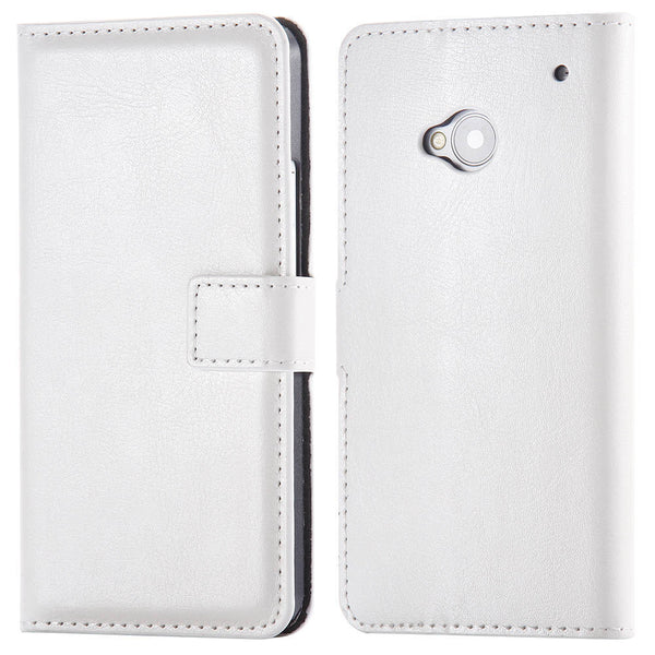M7 PU Leather Case Full Wallet Cover For HTC ONE M7 Flip With Card Slot & Stand Function Cell Phone Case Holster Capa For HTC M7