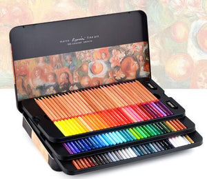 Marco Renoir fine art professional Oily Colored pencils 100 Color lapis de cor Painting pencil Colored Pencil Tin Box