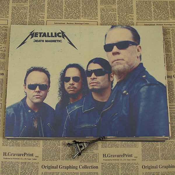 Metallica metal band Kraft retro retro classic rock poster classic band classic decorative painting vintage poster