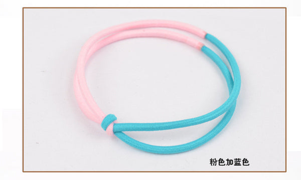 (Min order $10)Colorful flower hairband for women girl ponytail holder elastic hair band ties hair accessory HB05 1pcs lot