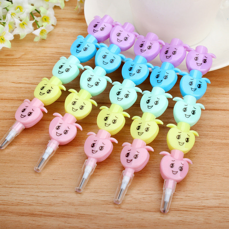 Mini Cute Kawaii Plastic Standard Pencil Creative Apple Pencil For Kids Novelty Item Korean Stationery Free Shipping 2104