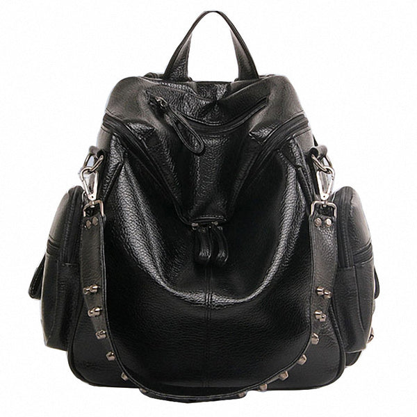 Dizhige Rivet Solid Pu Backpacks Women Tg35