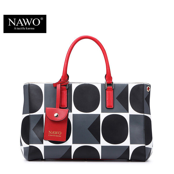 Nawo Geometric Split Leather Handbags Women N153461k