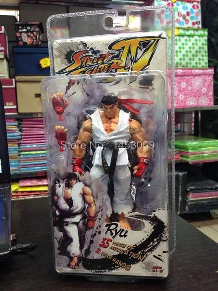 NECA Player Select Street Fighter IV Survival Model Ken Ryu Guile Action Figure Toy Doll Anime 18cm