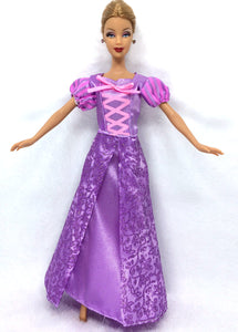 NK One Set Princess Doll Dress Similar Fairy Tale Rapunzel Wedding Dress Gown Party Outfit For Barbie Doll Best Girls' Gift