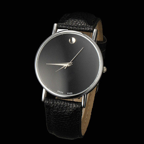 Seasonal Leather Quartz Alloy Quartz Wristwatches Men