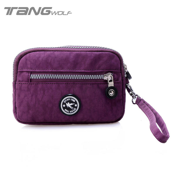 Tang Wolf Solid Nylon Wallet Women Qb008