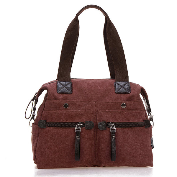 Jinqiaoer Solid Canvas Handbags Women Aimi6006tmm