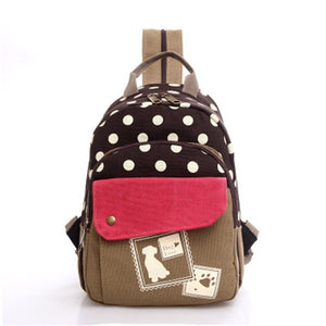 Mara's Dream Dot Canvas Backpacks Women Aa4119