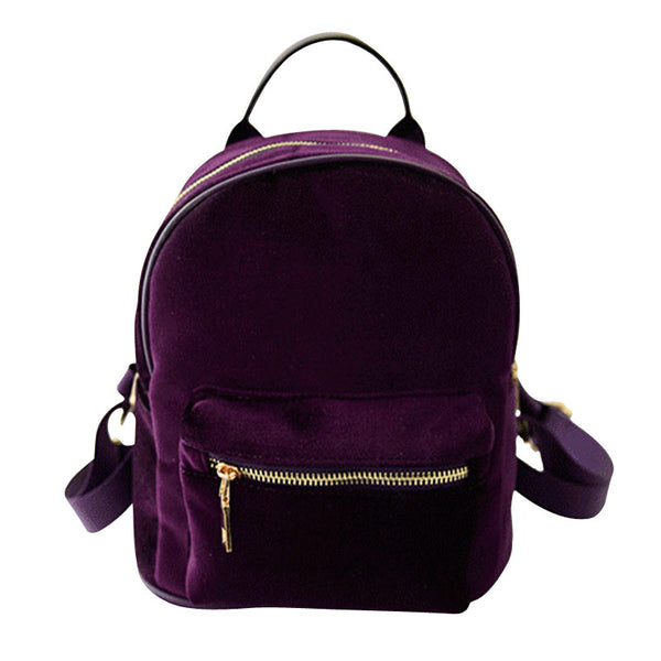 Mara's Dream Solid Corduroy Backpacks Women Aa4257