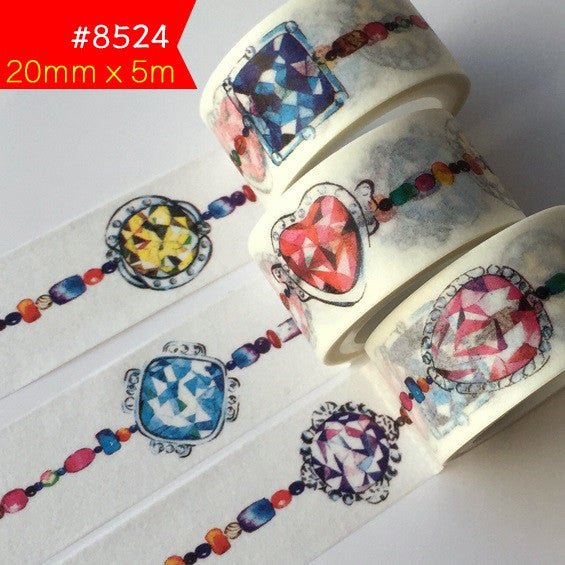 New 24Designs Flower Girl Christmas Rainbow Bird Pattern Japanese Washi Decorative Adhesive DIY Masking Paper Tape Sticker Label