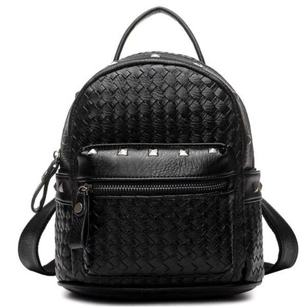 Bolish Rivet Plaid Pu Backpacks Women 003