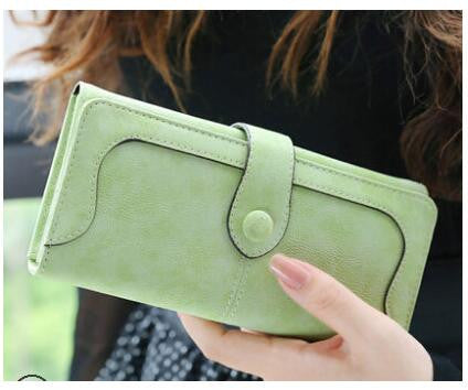 Lady·beibei Solid Faux Suede Wallet Women 888