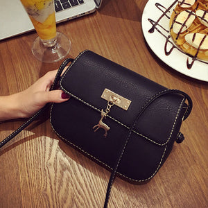 Bolish Embroidery Solid Pu Handbags Women Q8080