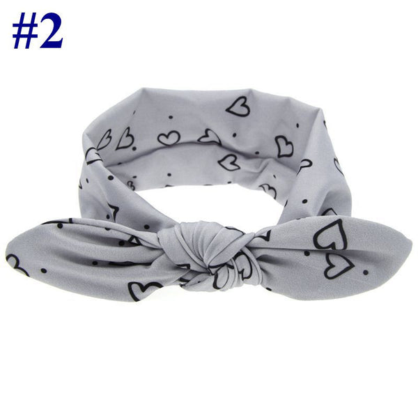New Baby Girls Knot Headband Kids Toddler Polka Dots Elastic Headwrap Infant Cross Turban Wide Twisted Hair Accessories1pc HB444