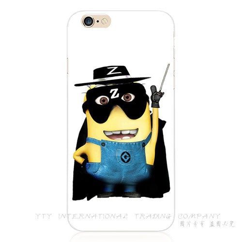 New Design Silicon Painting Fierce Cover Despicable Yellow Minion Case For Apple iPhone 4 iPhone 4S iPhone4S Cases Shell 2017