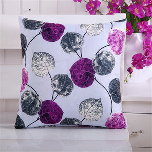 New Fashion 45*45cm Leaves Printed Pillow Cover Case Home Car Sofa Seat Decor Cushion Cover