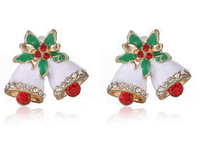 27th Trendy Zinc Alloy Rhinestone Stud Earrings Women Eh043