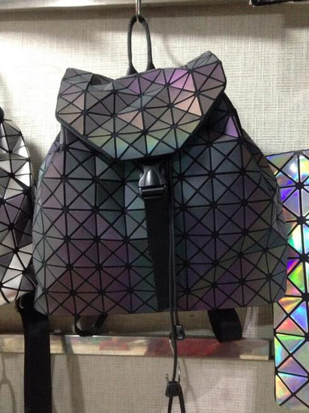 New Fashion Women bag Backpack Geometric Shoulder Student's school bag Hologram backpack Luminous Brand baobao bag Vintage