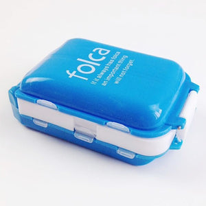 New Portable 8 Slots seal folding Pill Cases Jewelry candy box Storage Box Vitamin Medicine Pill Box Storage Case Container -263