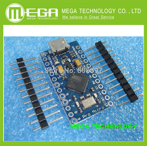 New Pro Micro ATmega32U4 5V 16MHz Module with 2 row pin header For Leonardo in stock . best quality