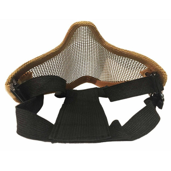 New Tactical Ghost Mesh Airsoft Mask Paintball Half Face Protection Strike Style