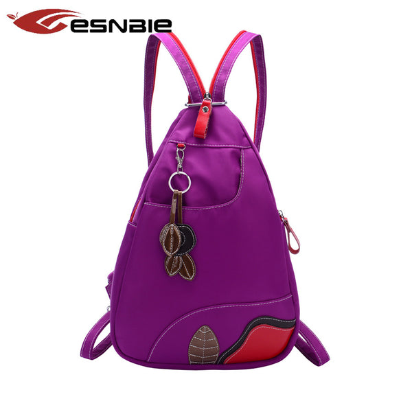 Esnbie Appliques Patchwork Nylon Backpacks Women Wj Hi804