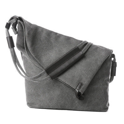 Esnbie Button Solid Canvas Handbags Women Kt827