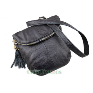 New Women's Genuine Leather Vintage Shoulder Messenger Crossbody Flap Casual Bag Pouch Purse